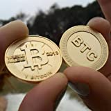 1pc Bitcoin Fine Copper Metal Souvenir Coin Commemorative Coin Gift