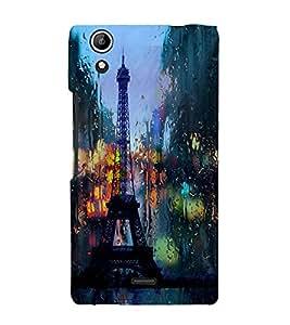 Eiffel Tower 3D Hard Polycarbonate Designer Back Case Cover for Micromax Canvas Selfie 2 Q340