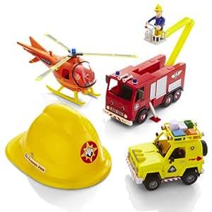 Fireman Sam Rescue Playset & Sam Figure & Helmet