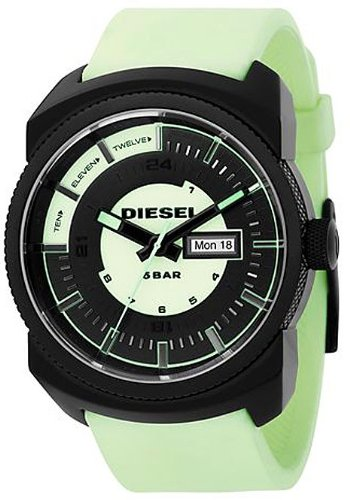 Diesel DZ1346 Gents Glow In The Dark Strap And Dial Black Ip Case Watch