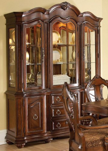 Buy Low Price Homelegance Buffet w/ Hutch by Homelegance – Warm brown finish (1390-50) (1390-50)
