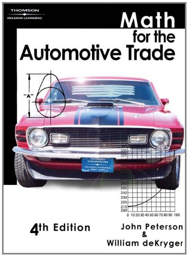 Math for the Automotive Trade - Cengage Learning - 1418031011 - ISBN:1418031011