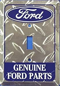 Ford Genuine Parts Diamond Embossed Vanity Metal Novelty Single Light Switch Cover Plate LS10155 ...