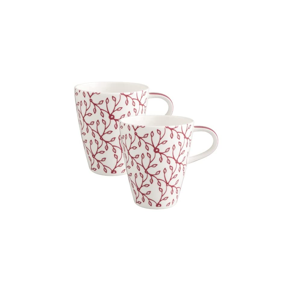 Villeroy Boch Caffe Club Floral Berry Coffee Mugs Sets Of 2 On