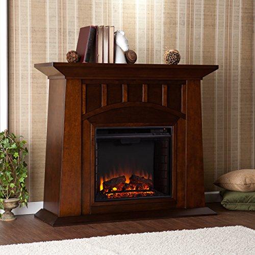 SEI AMZ8669E Lowery Electric Fireplace, Espresso