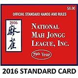 National Mah Jongg League 2016 Scorecard - Standard Print