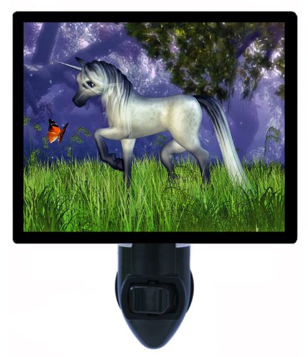 Unicorn And Butterfly Night Light - Fantasy Led Night Light
