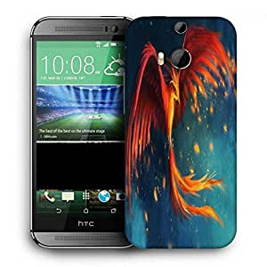 Snoogg Phoenix Fire Bird Printed Protective Phone Back Case Cover For HTC One M8