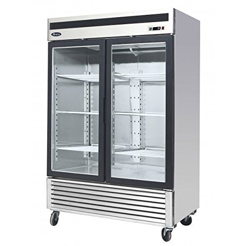Atosa USA MCF8703 Series 55-Inch Glass Two Door Merchandiser Upright Freezer