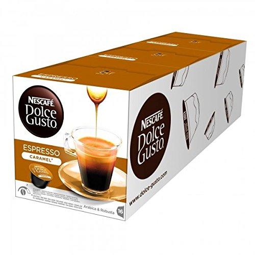 Get Nescafè DOLCE GUSTO Pods Coffee Capsules - ESPRESSO CARAMEL - 16 pods (pack x 3) by NESTLÉ Portugal