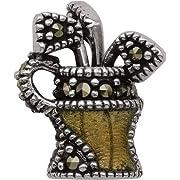 Persona Sterling Silver Golfers Glory Charm fits Pandora Troll & Chamilia European Charm Bracelets