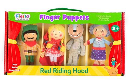 Tellatale T-2376 - Juego de marionetas de dedo, diseño de Caperucita Roja