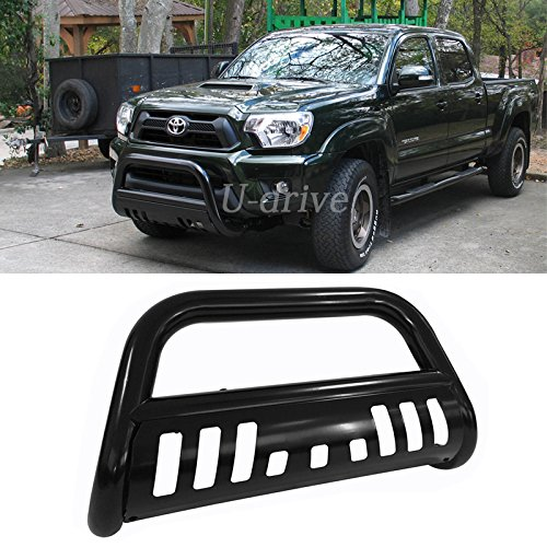 Mifeier Black Stainless Steel Bumper Brush Grille Guard Bull Bar For 05-15 Toyota Tacoma (2014 Toyota Tacoma Grille Guard compare prices)