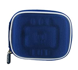 rooCASE Universal (Med EVA Dark Blue) Hard Shell Case with Memory Foam for Point and Shoot Camera and Pocket Camcorder