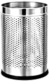 "King International- Stainless Steel Perforated Open Dustbin/ Stainless Steel Garbage Bin/ - 7 litre (8""x12"")"