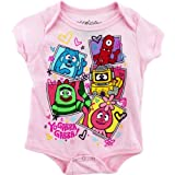 "Yo Gabba Gabba ""Get the Sillies Out"" Pink Infant Bodysuit"