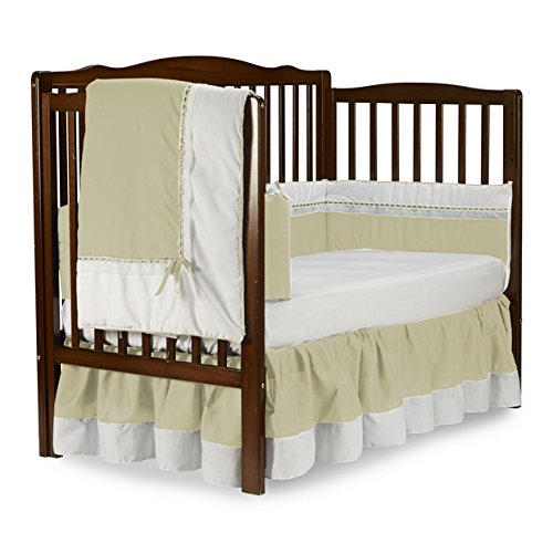 Baby Doll Royal Crib Bedding Set, Ecru
