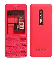Nokia Asha 206 Replacement Body Housing Front & Back Original Panel - Pink