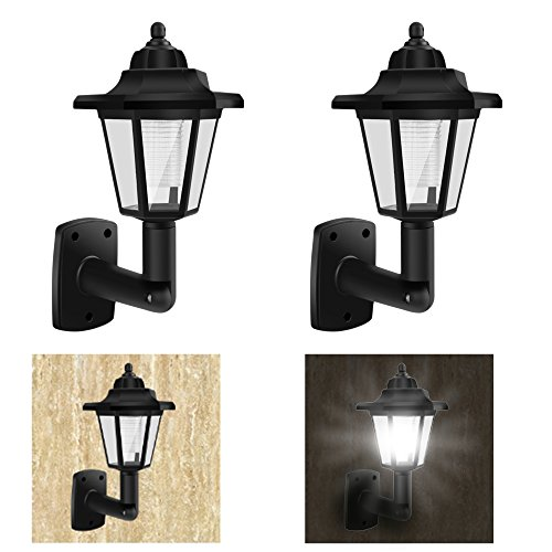 Outdoor Lamp Post Amazon: (2 Pack) Solar Power Square White Outdoor Garden Deck 4×4