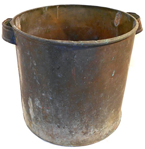 Antique Well Worn Primitive Handled Copper Milk Can Boiler (Milk Cans Antique compare prices)