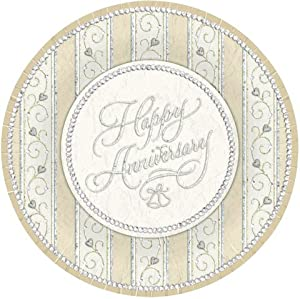Dazzling Anniversary 7 Paper Plates 25th Or 50th Toys Games