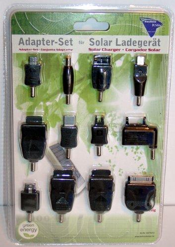 GS75012 12tlg. Adapter-Set für Solar Ladegerät GS750 und GS752