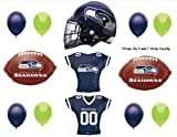 SEATTLE SEAHAWKS Football SUPER BOWL Party balloons Decorations Supplies