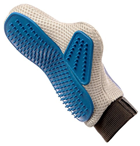 Pet Prime Dog & Cat Grooming Glove Brush - Deshedding & Massaging Tool For Long & Short Hair Pets (Dog Grooming Clothing compare prices)