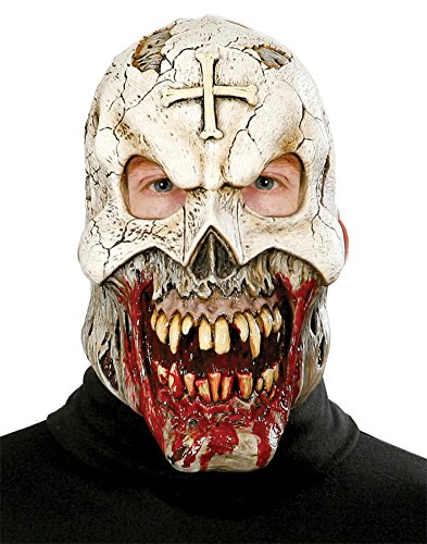 Voodoo Priest Skull W Rotting Mouth Horror Monster Adult Halloween Costume Mask