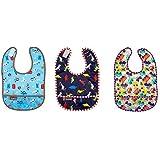 Kushies Waterproof Bib 3 Pack, 12 Months +, Colors May Vary