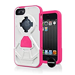 Rokform Rokshield iPhone 5/5s/SE Dual Layer Protective Case and Universal Magnetic Car Mount. Made in USA (Pink/White)