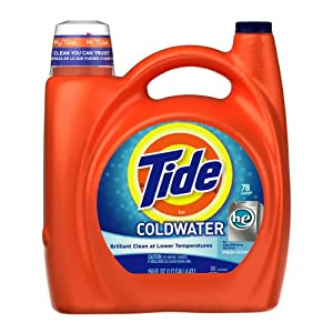 Tide Coldwater High Efficiency Fresh Scent with Actilift, 150-Ounce