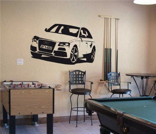 AUDI S4 A4 SPORT CAR Wall Decor Vinyl Decal Sticker 08