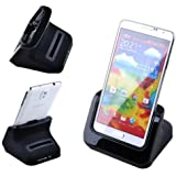 VicTsing® Dual USB Data Sync Charger Charge Charging Cradle + Spare Battery Charger Docking Station For Samsung Galaxy Note III 3 N9000 - Case Compatible
