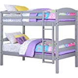 Mainstays Twin Over Twin Wood Bunk Bed, Gray