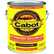 Valspar 140.0000337.007 Cabot Semi-Transparent Oil-Based Deck And Siding Stain