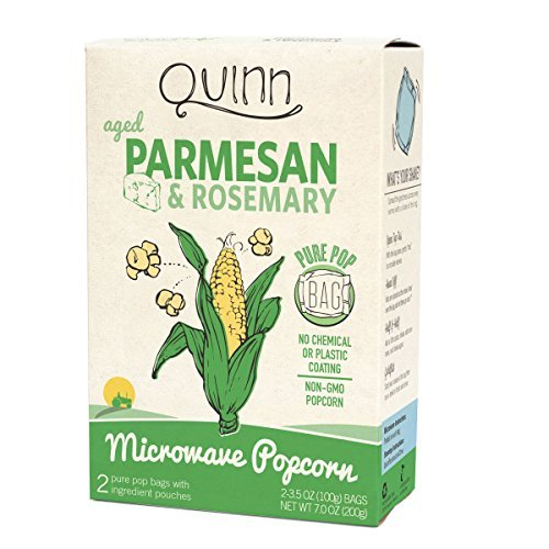 Quinn Popcorn Microwave Popcorn - Made with Organic Non-GMO Corn - Great Snack Food for Movie Night {Parmesan & Rosemary, 1 Box} by Quinn Popcorn (Organic Popcorn Quinn compare prices)