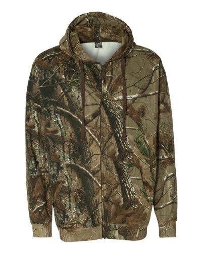 Code V 3989 Adult Zipper Hooded Sweatshirt, Realtree Ap HD, Medium