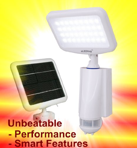 Solar Digital Floodlights : Review eleding pure digital solar powered motion activated