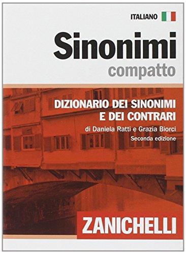 Sinonimi compatto Dizionario dei sinonimi e dei contrari PDF