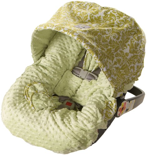 Itzy Ritzy Infant Car Seat Cover, Avocado Damask