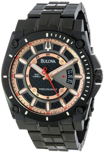 Bulova Men's 98B143 Precisionist Charcoal Grey Dial Bracelet Watch (Bulova Carbon Fiber Watch compare prices)