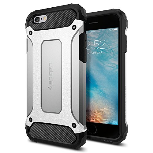 Cover-iPhone-6S-Spigen-Cover-iPhone-6-Tough-Armor-Tech-Ultimate-Shock-Absorb-Satin-Silver-Dual-Layer-Ultimate-Rugged-Protezione-Custodia-iPhone-6S-Custodia-iPhone-6-Satin-Silver-SGP11744