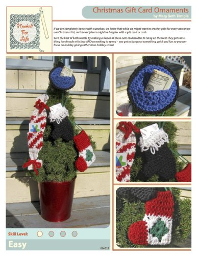 Four Christmas Gift Card Ornaments To Crochet