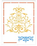Faux Like a Pro Victorian Baroque Stencil Panel, 13.75 by 18-Inch, Panel: 12.5 by 25-Inch, Border: 2.6-Inch High