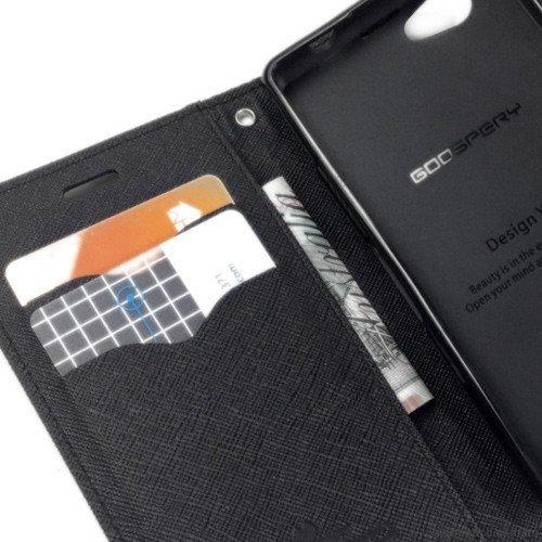 Lenovo Vibe K5 plus Flip Cover Mercury Case For Lenovo Vibe K5 plus (Black) By Vinnx