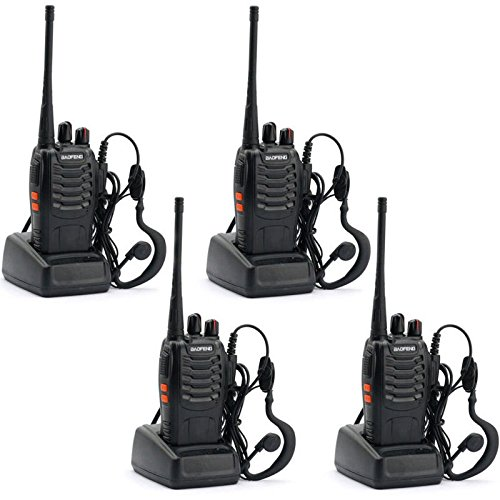 Guestway Baofeng Amateur Radio Handset Portable BF-888S UHF 400-470 MHZ 5W CTCSS for Guard Communications (Pack of 4PCS) (Portable Jammer compare prices)