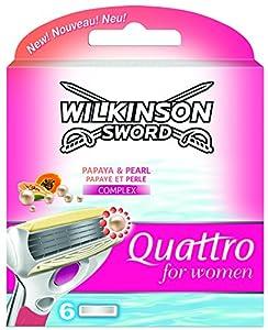 Wilkinson Sword Quattro Razor Blades Refills for Women - Pack of 6