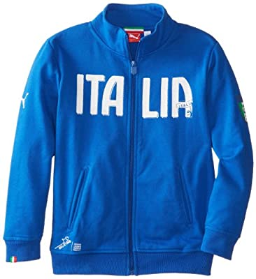 Puma - Kids Boys 8-20 FIGC Italia Track Jacket, Team Power Blue, Medium