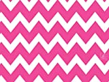 "Chevron Pink & White Gift Wrapping Roll 24"" X 15' - Valentine Birthday Holiday Gift Wrap Paper"